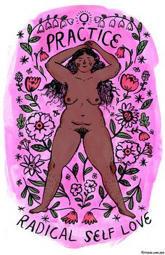 Practice Radical Self Love print (pink v.1) ~new version~