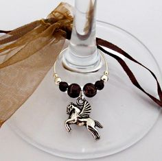 Pegasus Horse...bottle and/or wine glass charm