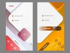 Login - Ui Login designed by Constantine KOs. Connect with them on Dribbble; the global community for designers and creative professionals. Web Design, Game Design, Login Design, Ui Design Patterns, Design Layouts, Flat Design, Android App Design, Ios App Design, Mobile App Design