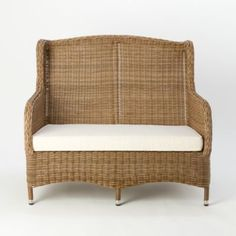 All-Weather Wicker Wingback Sofa in Outdoor Living FURNITURE + ACCENTS Shop by Collection All-Weather Wicker at Terrain