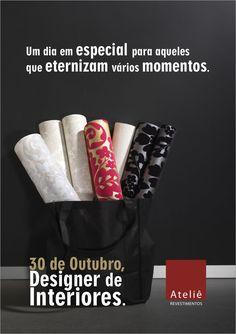 30 de Outubro - Dia do Designer de Interiores. Parabéns a todos os profissionais!