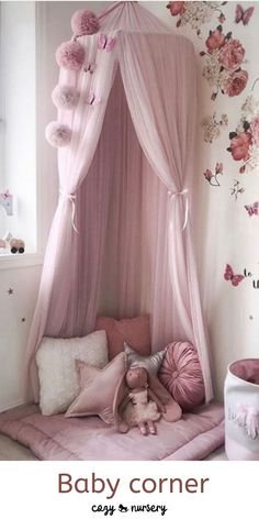Baby Bed Canopy, Princess Canopy Bed, Princess Bedrooms, Big Girl Bedrooms, Girls Bedroom, Princess Beds, Toddler Canopy Bed, Tulle Canopy, Canopy Beds