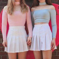 Apr 2020 - Multicolor Girly Vintage Pleated Mini Tennis Skirt – Jenny Ray Pastel Fashion, Cute Fashion, Girl Fashion, Vintage Fashion, Fashion Outfits, Girly Outfits, Skirt Outfits, Cute Outfits, Tennis Skirts