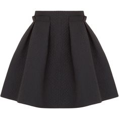 Lanvin Embossed sateen skirt ❤ liked on Polyvore