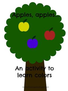 Apple Color Chant w/ Free Printable-- help your tot learn their colors with this cute activity