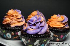 Halloween, choc orange cupcakes