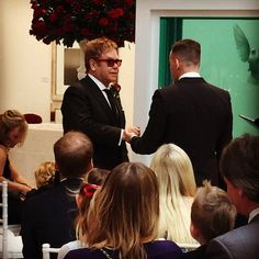 Pin for Later: Elton John Is Married — See His Wedding Photos!