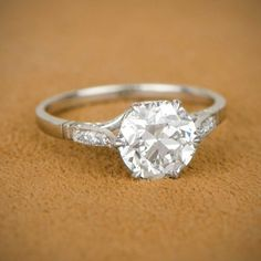 How Are Vintage Engagement Rings Not The Same As Modern Rings? If you're deciding from a vintage or modern diamond engagement ring, there's a great deal to consider. Crown Engagement Ring, Engagement Solitaire, Estate Engagement Ring, Antique Engagement Rings, Engagement Ring Settings, Circular Engagement Rings, Vintage Diamond, Vintage Rings, Vintage Silver