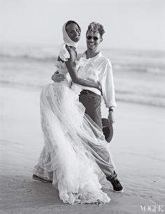 David Bowie and Iman at their wedding