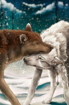 YCH .:First Snow:. by WhiteSpiritWolf on DeviantArt