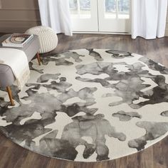 Shop for Safavieh Handmade Dip Dye Watercolor Vintage Beige/ Charcoal Wool Rug (7' Round). Get free shipping at Overstock.com - Your Online Home Decor Outlet Store! Get 5% in rewards with Club O!