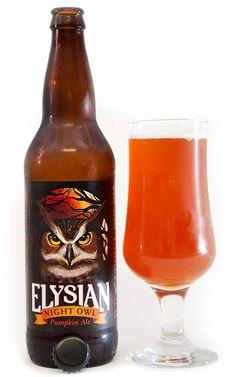 Elysian Night Owl Pumpkin Ale - One of my favorite Pumpkin Ales!