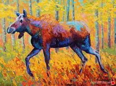 Cow Moose by Marion Rose Acrylic ~ 18 x 24