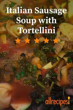 Tortellini Soup with Italian Sausage – Tasty Recipes Italian Sausage Tortellini Soup, Tortellini Recipes, Sweet Italian Sausage, Soup Recipes, Cooking Recipes, Hot Sausage, Best Italian Recipes, Hot Soup
