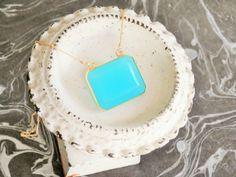 Natural Mined Aqua Chalcedony Crystal // Aqua by ransomjewelry