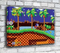 Sonic The Hedgehog - RETRO GAMING CANVAS