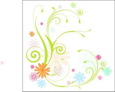 FLOWERS / Free vector Vector flower Scrolly Vines and Flowers