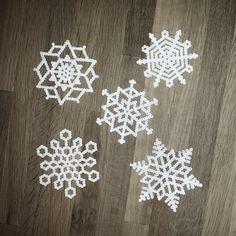 Snowflakes hama perler beads by pixeline