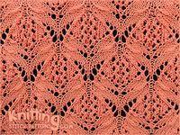 Lotus Blossom flower knitting pattern. Skill: Intermediate