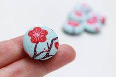 japanes blossom, fabric magnet