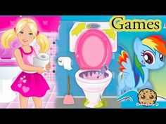 My Little Pony Rainbow Dash, Barbie Potty Training, Frozen Elsa Party Game Play Videos - YouTube
