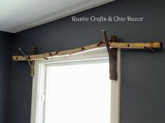 diy curtain rod idea, home decor, repurposing upcycling