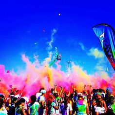 Color Me Rad! There's one in San Jose in early Sept(: so maybe we can train for it this summer!