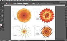 spirograph floral motifs in illustrator Adobe Illustrator Tutorials, Ai Illustrator, Photoshop Illustrator, Spirograph, Affinity Designer, Adobe Xd, Graphic Design Tutorials, Photoshop Design, Pattern Illustration