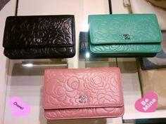 Chanel: Camellia WOC (Pink, Blue, Black)