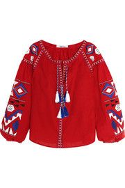 MARCH11 Kilim embroidered linen blouse