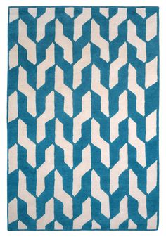 Cable Blue by The Rug Company | Tibetan Wool Rug