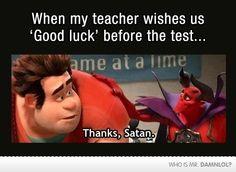 Thank you satan Haha, Funny Quotes, Funny Memes, Memes Humor, Funny Gifs, Funny Cartoons, School Memes, College Memes, Student Memes