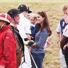 All eyes were on Prince George and his mother the Duchess of Cambridge today as they attended the Festival of Polo at the Beaufort Polo Club in Gloucestershire. 6.14.15.