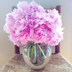 A dozen fresh cut pink peonies. Because I have a #floweraddiction. I will cut your peonies while you sleep, beware! Just kidding, but not really.  #thesarahjohnsonflorals