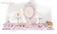 Fairytale dessert table, sweet table - once upon a time. Princess birthday party Once Upon A Time, Princess Party, Chandelier, Ceiling Lights, Dessert, Table, Home Decor, Photo Illustration, Candelabra
