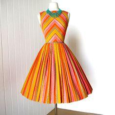 a whop bop a loo a whop bam boo! tutti fruitti! vintage 1960s dress @traven7 @Etsy