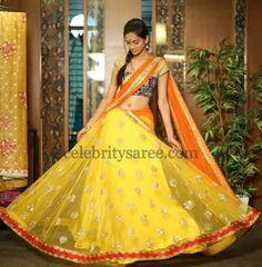 Exclusive Half Sari by Bhargavi | Saree Blouse Patterns