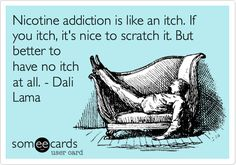 Nicotine addiction is like an itch. If you itch, it's nice to scratch it. But better to have no itch at all. - Dali Lama.