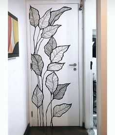 Wall Painting Decor, Mural Wall Art, Simple Wall Paintings, Wall Decor, Bedroom Wall, Bedroom Decor, Wall Design, House Design, Wall Drawing