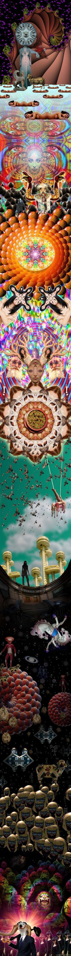 WEIRD WORLDS SCROLLS ___by LARRY CARLSON 2008.