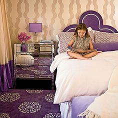 Purple Girls Bedroom. Cute shade of purple.