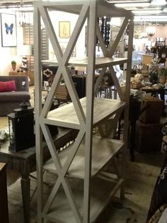 Painted X Shelf | Do It Yourself Home Projects from Ana White