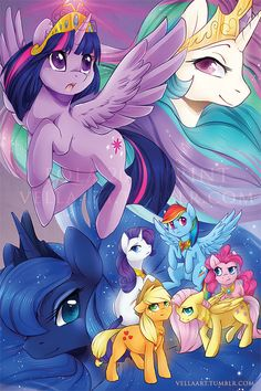 Power of the Princess Rainbow Fan, Over The Rainbow, Princess Celestia, Princess Luna, Mlp Pony, Pony Pony, My Little Pony Collection, Little Poney, My Little Pony Friendship