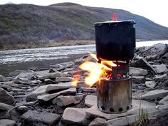 Bushbuddy Wood Stove.  The coolest backpacking stove on the market.