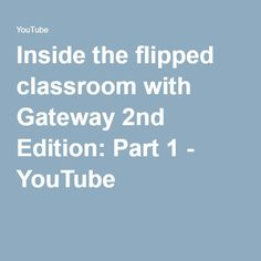 Inside the flipped classroom with Gateway Edition: Part 1 Flipped Classroom, Teacher, Youtube, Professor, Youtubers, Youtube Movies