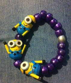 Made by me.Quilling minions bracelet
