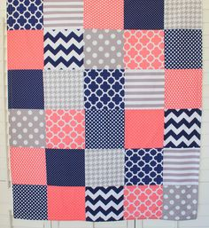 Baby Girl Blanket Fleece Blanket Crib Blanket par theredpistachio