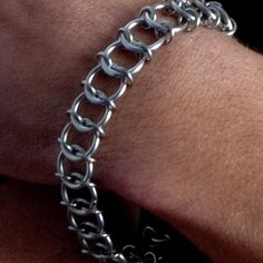 Rapt In Maille | Handmade Chainmaille Jewelry by Melissa Banks | Stainless Steel | Chicago — HIS One-Row Bracelet