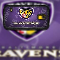 Baltimore Ravens Crest Design on Samsung Galaxy S4 Black Rubber Silicone Case by EastCoastDyeSub on Etsy https://www.etsy.com/listing/195669173/baltimore-ravens-crest-design-on-samsung