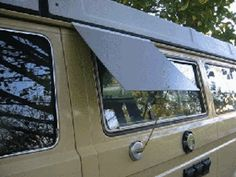 Would you like to keep your Vanagon's kitchen window open when it's raining? Jim Felder designed a neat little window awning hack. Using a magnet base and